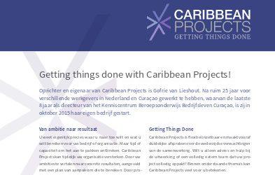 Bedrijfsprofiel Caribbean Projects Mei 2017